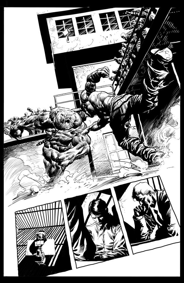 Página de Mike Deodato Jr, para Capitain America #616