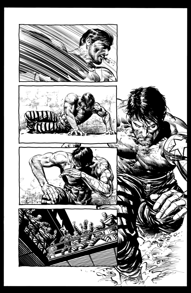 Capitain America #616 page by Mike Deodato Jr