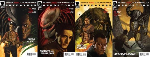 """Capas de """"Predators"""", primeiro trabalho para a Dark Horse e preview do filme de Robert Rodrigues"""