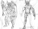 The Savage Hawkman - Concept Art 01-02