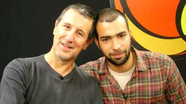 O cartunista Laerte e seu filho Rafael Coutinho