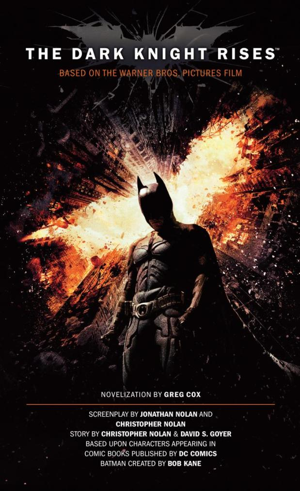 Capa de The Dark Knight Rises: The Official Novelization