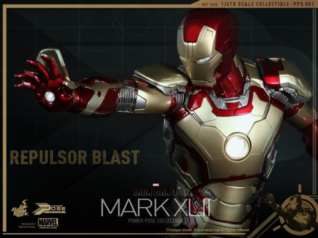 Iron Man 3 - 1-6th scale Power Pose Mark XLII Collectible Figurine 13
