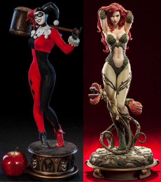 Sideshow Collectibles - Harley Quinn and Poison Ivy Premium Format Statues
