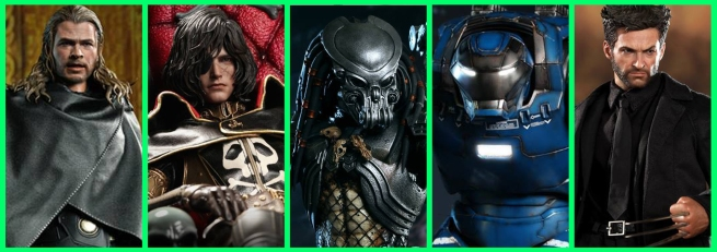 Multiple Vertical Teasers - Hot Toys 2013-2