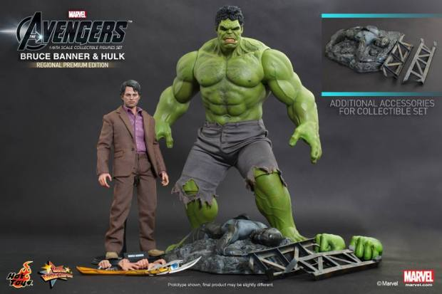 The Avengers - 1-6th scale Bruce Banner & Hulk Collectible Figures Set (Regional Premium Edition)