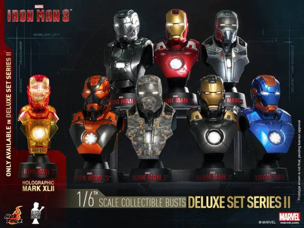 Iron Man 3 16th scale Collectible Bust (Series II) Deluxe Set