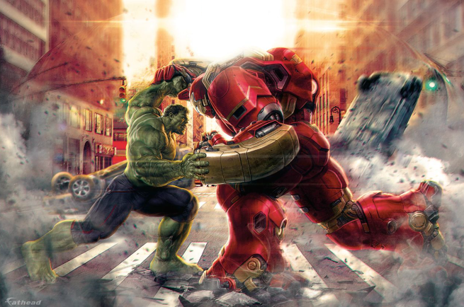 Avengers Age of Ultron - Hulk Vs Hulkbuster