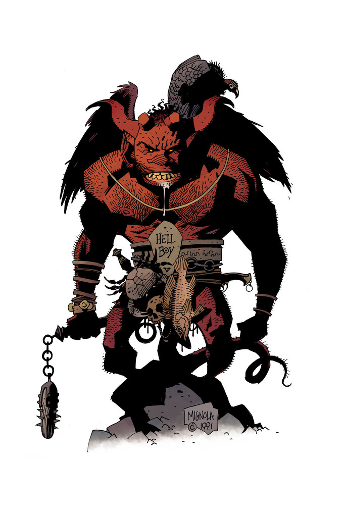 first hellboy sketch by mike mignola colors studio made