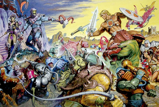 He-Man and Masters of the Universe Cover Art by Norem