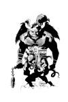 The First Hellboy By MONDO B&W 10