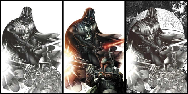 Star Wars #1 Variant Covers by Mike Deodato